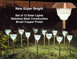 solar outdoor lights for garden landscape lighting inertiahomecom