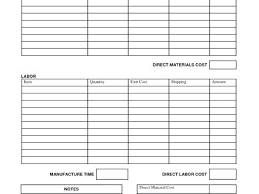 Job Estimate Te Blank Form On Free Printable Tes Private Tutoring ...