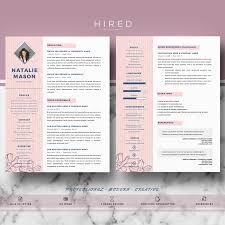 Creative Resume Template For Ms Word Natalie Hired Design Studio