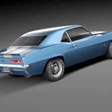 Chevrolet camaro ss 1969 3D Model $169 - .max .c4d .obj .lwo .fbx ...