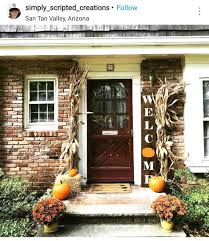 fascinating fall front door decorations decorating diy fall front door decorations
