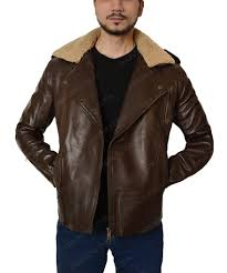 harry styles fur collar brown leather motorcycle jacket