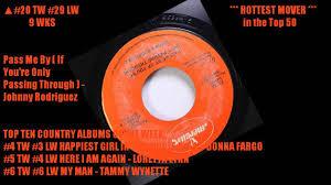 Billboard Charts 1973 Top 100 Billboard Hot Country Singles January 6 1973 Top 50