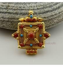 high quality tibetan buddhist silver ghau gau gau prayer box pendant patan nepal