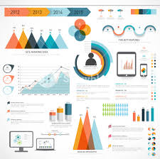 Different Charts A Big Set Of Business Infographics Elements With Different
