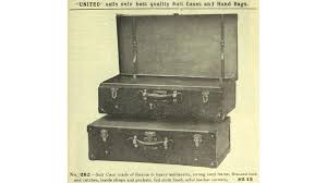 an early suit case as pictured in a 1911 united watch and jewelry company catalog internet archive