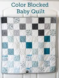 simple patchwork color blocked baby