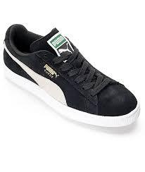 puma shoes suede black. puma suede classic black shoes (womens) puma d