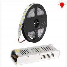 5 Metre 3 Çipli Şerit Led Hazır Set + Trafo Kırmızı Işık İç Mekan Fiyatı -  Taksit Seçenekleri