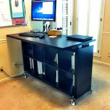 standing office desk ikea. Wonderful Black Wooden Ikea Stand Up Desk Design With Many Storages And Large Countertop Standing Office I