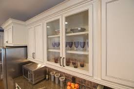 Maple Light Rail Molding Closeup Of Shaker Style Doors Refinished To A Custom White
