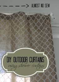 diy outdoor curtains using shower curtains love of home