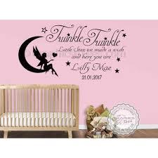 personalised twinkle twinkle little star nursery wall sticker baby boy girl bedroom wall quote decor decal on personalised baby boy wall art with personalised twinkle twinkle little star nursery wall sticker baby
