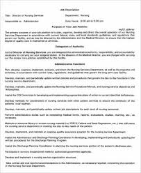 director of nursing services job description sample service director job description