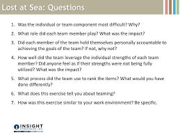 Lost At Sea Ranking Chart Coast Guard What Makes Your Team Tick Ppt Download