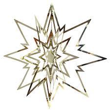 Deko Stern Weihnachtsstern Metall Mobile ø 22cm Gold