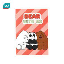 We Bare Bears วี แบร์ แบร์ สมุดริมด้าย A5 #WBB2021 แท้ราคาเพียง ฿29