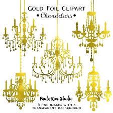 gold foil chandelier gold foil chandelier wedding clip art instant commercial use gold metallic foil
