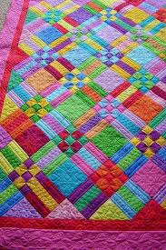 466 best quilt inspiration images on Pinterest   Fall, Patterns ... & 9 Patch and Rails - love the colors!. Bright ... Adamdwight.com