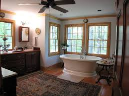 Craftsman  Bathroom With Raised Panel  Wood Counters In Newnan - Crown molding for bathroom
