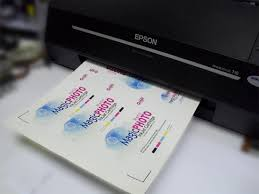 print your label at mirror coat sticker use epson printer with magic ink