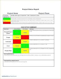 Project Status Slide Project Status Summary Template Project Executive Summary