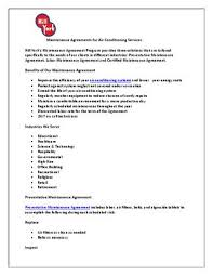 Maintenance Agreement Impressive Maintenance Agreements For Air Conditioning Services By Sophie Kaye
