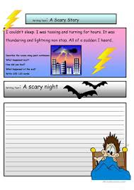creative writing a scary story a level worksheet esl full screen