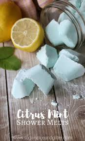 diy shower melts for nasal congestion or colds these homemade lemon peppermint shower melts are