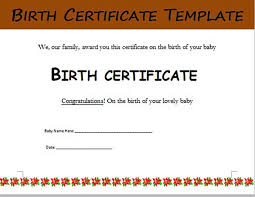 Birth Certificate Template And To Make It Awesome To Read