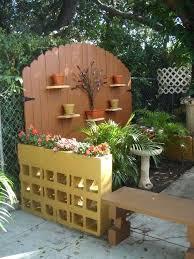cinderblock planter wall cool cinder block garden