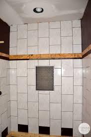 hall bath tile start of shower flip