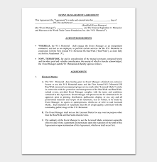 There are three main purposes for the change. Event Contract Template 19 Samples Examples In Word Pdf Format