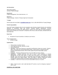 Property Manager Job Description Assistant Property Manager Job Description Resume Best Of Property 7