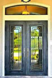 reclaimed stained glass front doors the craftsman style tiny house features  a custom stained glass front