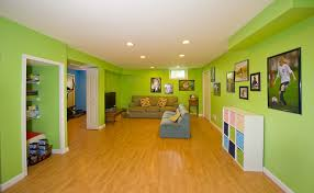 basement ideas for kids. Kids Basement Playroom With Green Wall Paint Color Ideas For
