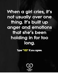When a girl crys