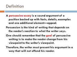 piece of persuasive writing definition persuasive writing