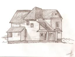 farm house inspired from a how to draw book
