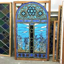 salvage stained glass windows transoms architectural arched design doors
