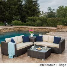 christopher knight home puerta grey outdoor wicker sofa set. Large Size Of Sofa:puerta Outdoor Pieceer Dining Set With Cushions By Archaicawful Christopher Knight Home Puerta Grey Wicker Sofa U