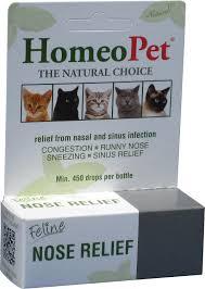 homeopet feline nose relief cat
