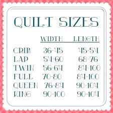 Bedspread Sizes Chart King Size Bedspread Size Estampam Co