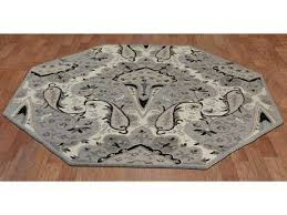 st croix structure silver paisley octagon area rug