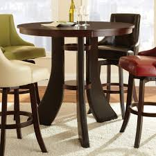 luxury bar height round table 13 amish poly 44in