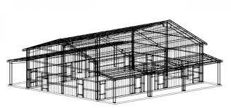40 x 60 x 16 steel building for