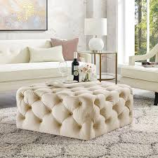 velvet ottoman coffee table tufted