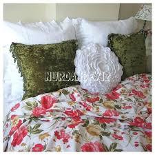 cabbage rose sheet set bedding pattern comforters red flower roses fl print twin