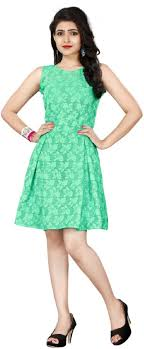 Light Green Fit And Flare Dress Xomantic Fashion Womens Fit And Flare Light Green Dress