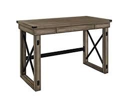 rustic office desks. altra wildwood wood veneer desk rustic gray office desks n